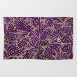Tangles Violet and Gold Rug