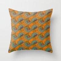 art deco Throw Pillows featuring Art Deco by Mimi