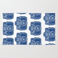 I Still Shoot Film Holga Logo - Blue Rug