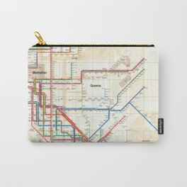 1972 Vignelli NYC Subway Map Carry-All Pouch