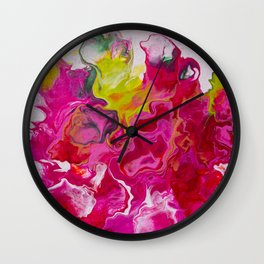 Inviting iris Wall Clock