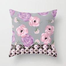 Purple & Pink Throw Pillow