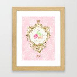 French Patisserie Macarons Framed Art Print