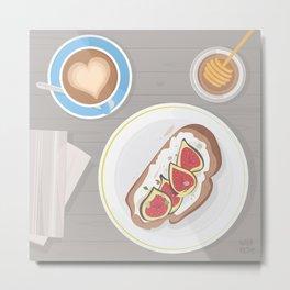 Fig toast Metal Print