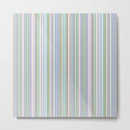 Soft Pinstripes Metal Print