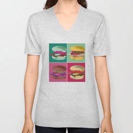 Pop Art Burger #2 Unisex V-Neck