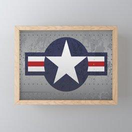 U.S. Military Aviation Star National Roundel Insignia Framed Mini Art Print