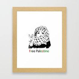 Freedom for Palestine Framed Art Print
