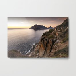 Sunset view from Chapman's Peak drive in Cape Town, South Africa Metal Print