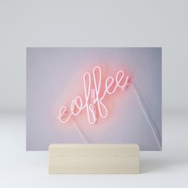 Neon Coffee Mini Art Print