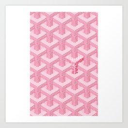 Pink Goyard Art Print