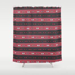 Haikyuu!! Nekoma Bows Shower Curtain