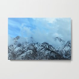 Clouds on top a Mountain Metal Print