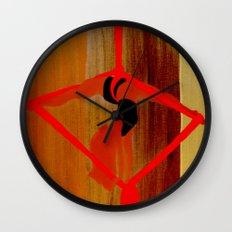 Bright Ribbon on a Fine Grain Wall Clock