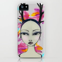 Fawn Woodland Gal iPhone Case