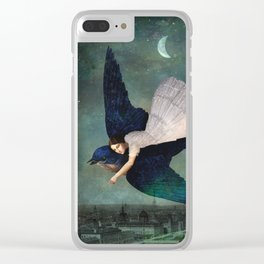 fly me to paris Clear iPhone Case