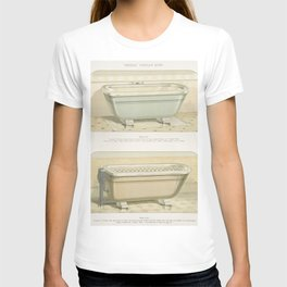 Vintage  of imperial porcelain baths published in 1888 by JL Mott Iron Works T-shirt