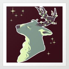 Mint Chip Deer Art Print