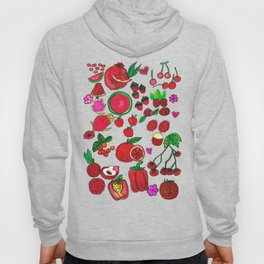 Red Fruits Drawing Hoody