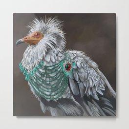 Necrophagy: Egyptian Vulture Metal Print