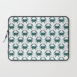 Pattern: Blue Crab Fest! ~ (Art Copyright 2013) Laptop Sleeve
