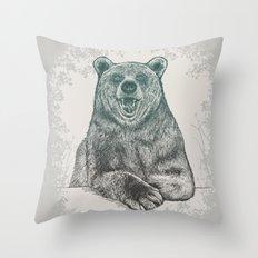Bear Portrait Throw Pillow