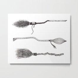broomsticks Metal Print