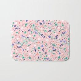 Joylyn's Floral Blueberry Field Bath Mat