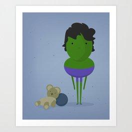 Hulk: My angry hero! Art Print