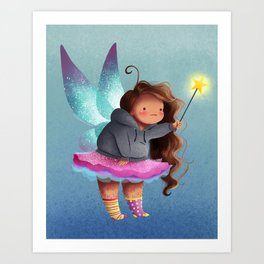 The lazy fairy Art Print