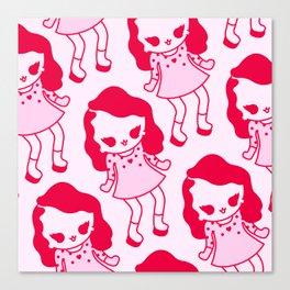 Kawaii pattern, kawaii character,cute pattern Canvas Print
