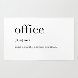 Office definition Rug