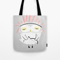 carpe Tote Bags featuring BE BRAVE by Kelli Murray