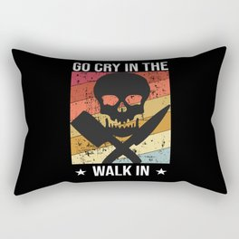 Go Cry In The Walk In Chef Funny Cook Rectangular Pillow