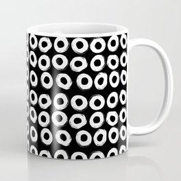 Grunge White Circles Coffee Mug
