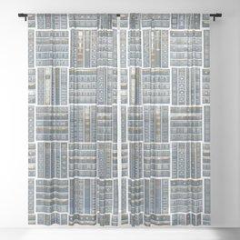 The Bookish Checkerboard Sheer Curtain