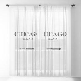 Chicago - Illinois Sheer Curtain
