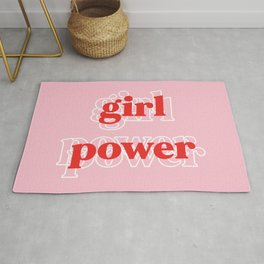 Girl Power // in Pink Red Rug