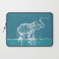 elephant Laptop Sleeves featuring Elephant by Paula Belle Flores