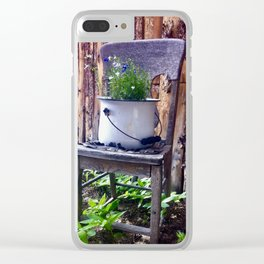 Bucket Of Flowers Clear iPhone Case