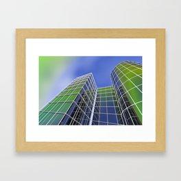 city -w6- Framed Art Print