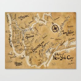 The Realm of New York City Map Canvas Print