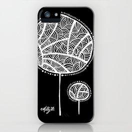 White Flower 101 iPhone Case