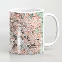 Vintage map of Paris Coffee Mug