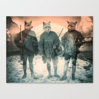 heaven Canvas Prints featuring Fox Hunt by Chase Kunz
