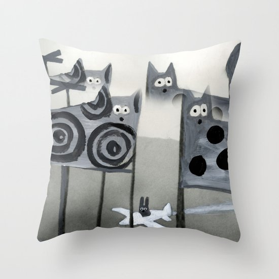 bunny's dream Throw Pillow