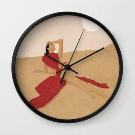 Warm Dune Sand Wall Clock