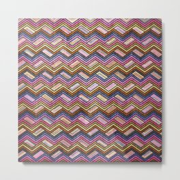 Seamless Colorful Geometric Pattern XVIII Metal Print