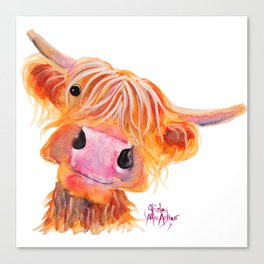 Highland Cow Print, Animal Print ' NESSIE ' by Shirley MacArthur Canvas Print
