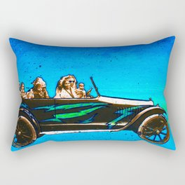 Bonnie, Clyde, & Family Rectangular Pillow